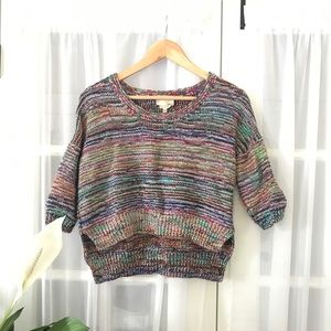 Le Fou Wilfred Spacedye Rainbow Crop Sweater